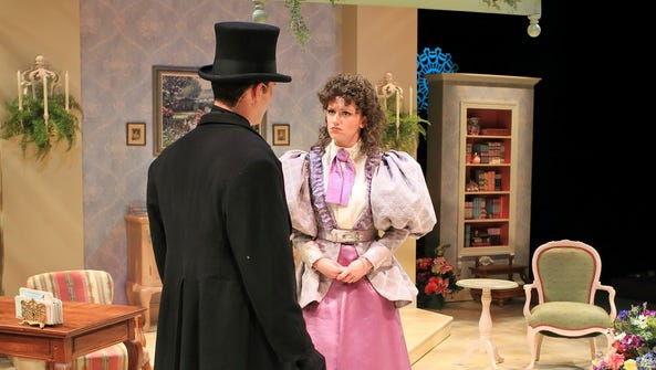 Josh Marx and Lizzie O'Hara in the Flat Rock Playhouse