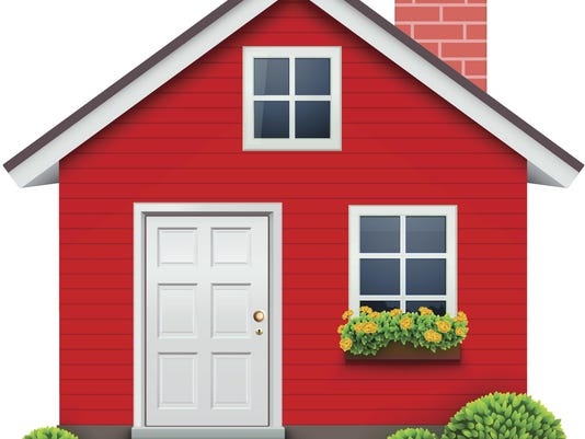 Vector illustration of red house icon