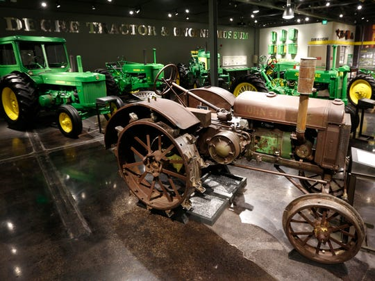 A 1928 John Deere model GP tractor is featured in the new John Deere Tractor and Engine Museum in Waterloo.