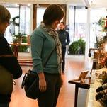 Amanda Blough looks at items Saturday at Lotus Moon Gallery and Yoga in downtown Chambersburg.