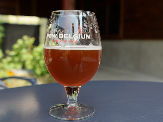 New Belgium's seasonal Pumpkick beer is served in the