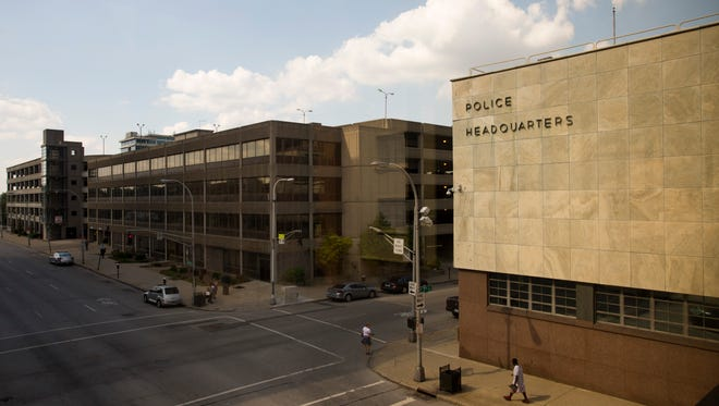 A view of the Police Headquarters in downtown Louisville. Sept. 23, 2016
