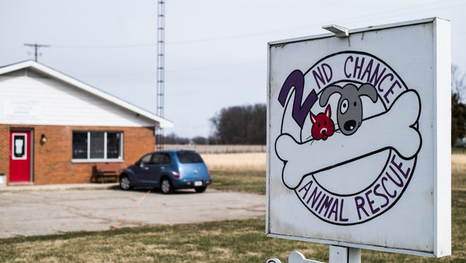 The front of 2nd Chance Animal Rescue, 2905 U.S. 35 N., is seen Wednesday, March 14, 2018.