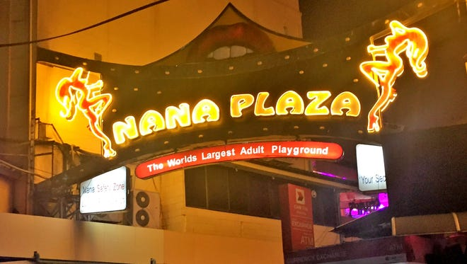 Nana Plaza is a sprawling red light district in Bangkok, Thailand.