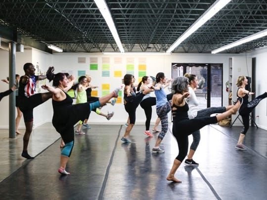 """Basin Arts offers adult dance classes for beginners or experienced dancers in Theatrical Dance, Modern, Jazz and Ballet.  Several students attended classes during """"Free Class Week"""" a few weeks ago. Free Class week served as an introduction for new students to try out the various classes offered."""