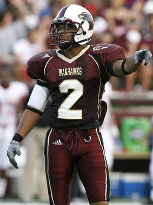 Greg James (2), a local standout from Carroll High School, is ULM's all-time leader in career interceptions.