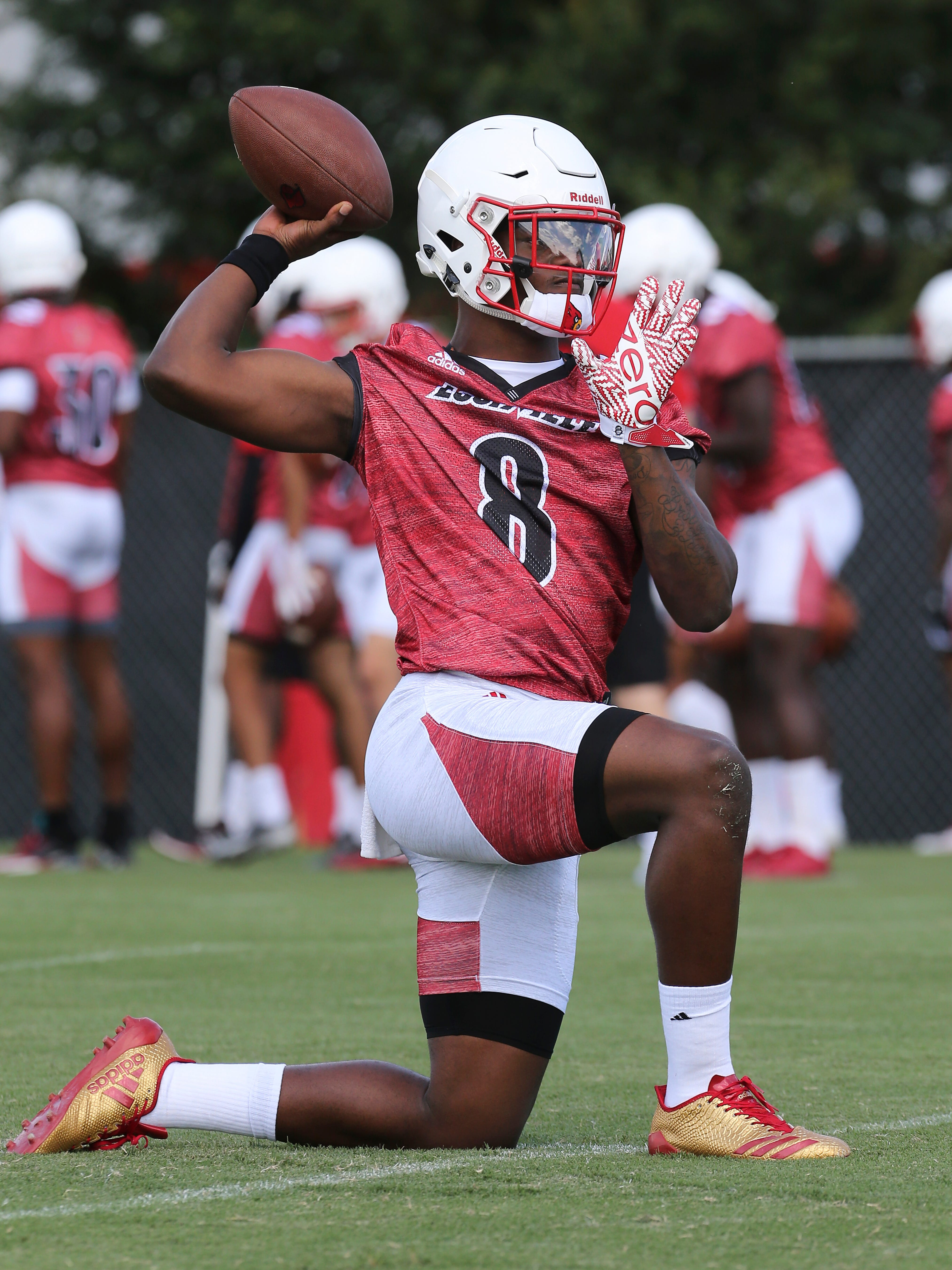 Louisville Football Jackson Ready To Turn Prep Into Production At Camp