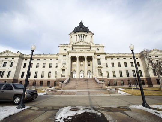 The South Dakota State Capitol on Jan. 9, 2018 in Pierre,
