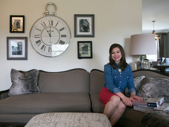 Interior Designer Rachel Clark at her home in Pittsford on Friday, April 24, 2015.