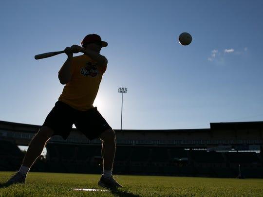 Frontier Field hosts a demonstration of Beep Baseball