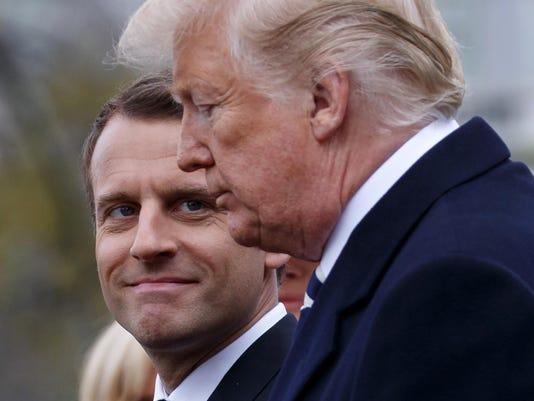 Donald Trump,Emmanuel Macron