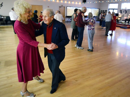 Jerry Perry dances with his wife, Joan, at the Keizer/Salem