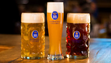 Original, Hefe Weizen and Dunkel (left to right) Bavarian