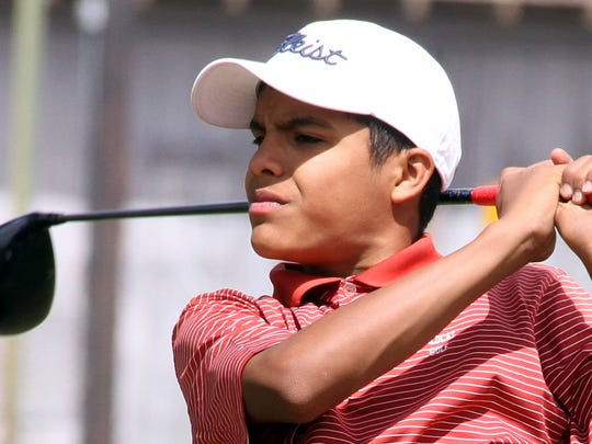 Wildcat eighth grader Jordan Caballero turned in an 87 score under adverse weather conditions on Thursday.