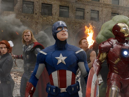 "A still from Marvel's 2012 blockbuster hit, ""The Avengers."""