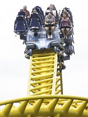 Skyrush is the tallest and fastest roller coaster at Hersheypark. It features a 200 foot hill and the first drop reaches 75 mph.