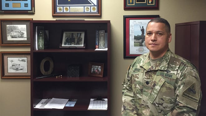 Lt. Col. Manny Ortiz is the new commander of the 24th Press Camp Headquarters.