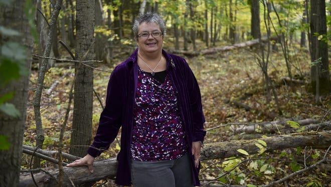 One of Becky Gosser's favorite spots is walking a neighborhood trail behind her rural Sturgeon Bay home.