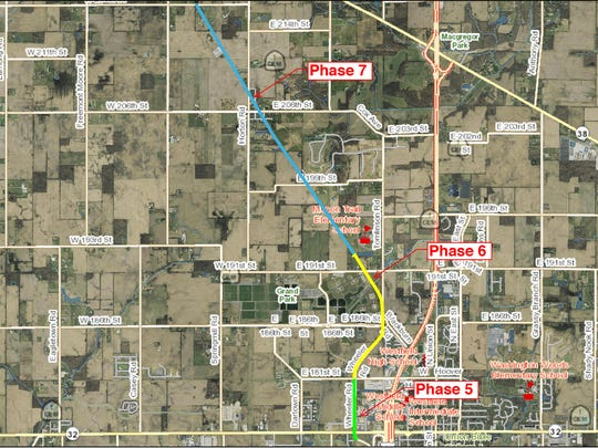 Westfield plans to extend the Monon Trail from Ind. 32 to 216th Street.