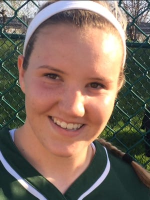 Camden Catholic pitcher Sarah Byrnes struck out 12 as the Irish beat Bishop Eustace on April 12.