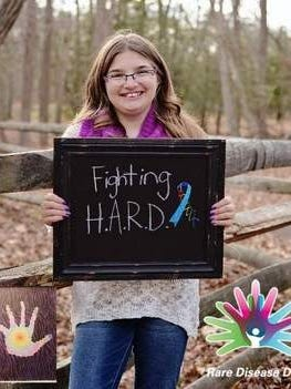 Howell, NJ- 12 year old, Allie, is Fighting H.A.R.D. (Having A Rare Disease) and spreading awareness for Rare Diseases at a fundraising event on March 13, 2015 at the Reception Center in Matawan, NJ.