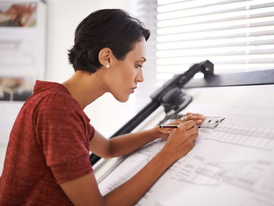 architect working in her office