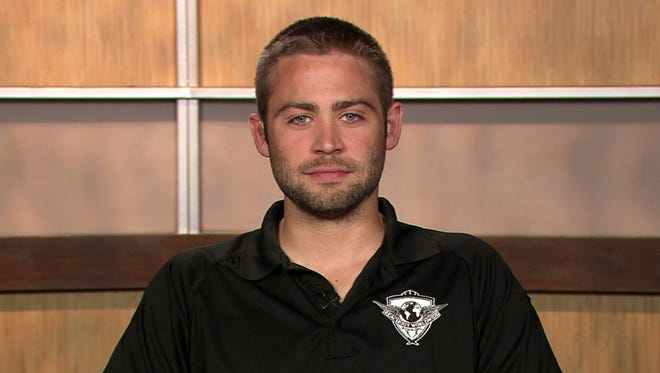 This image from video shows Cody Walker, brother of the late actor Paul Walker, during an interview Thursday, April 24, 2014, in Los Angeles.