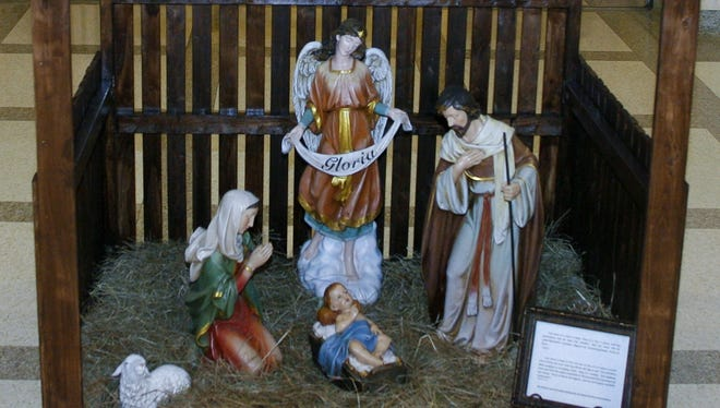 A nativity on display at the Florida Capitol in Tallahassee.