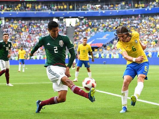 Soccer: World Cup-Brazil vs Mexico
