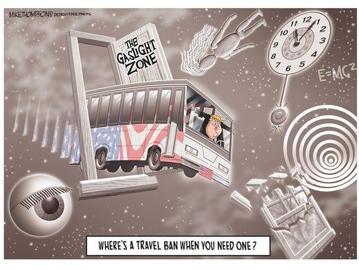 Donald Trump and a travel ban