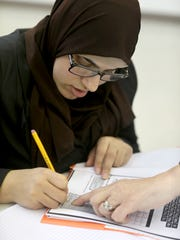 Reham Abdlrhamn, learns to read, write, and understand