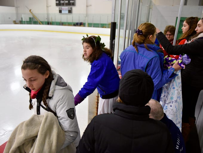 Coaches and skaters, including Corinne Ribaudo of Rockville,
