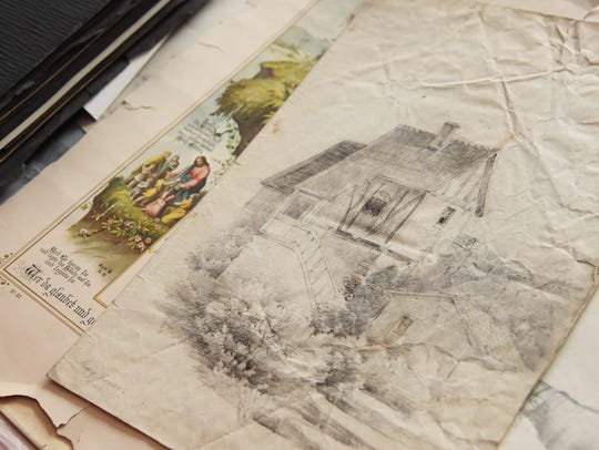 One of the pencil sketches Toni Houston found, which