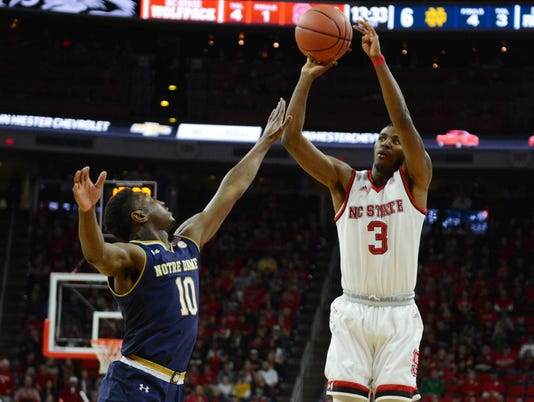 NCAA Basketball: Notre Dame at North Carolina State