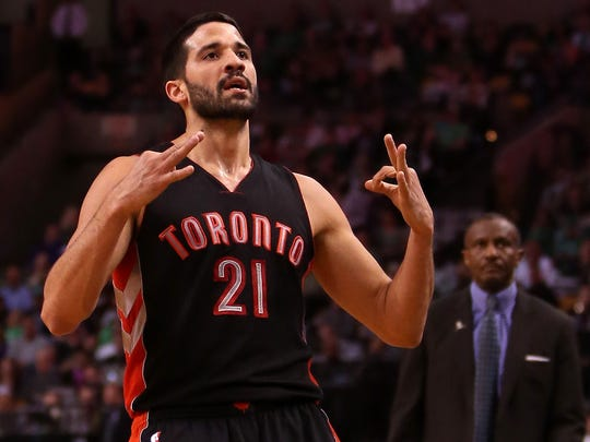 The Milwaukee Bucks acquired guard Greivis Vasquez in a trade with the Toronto Raptors during the NBA draft on Thursday night.