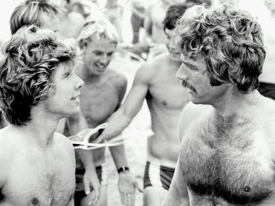 "In ""Lifeguard,"" Sam Elliott (right) plays a lifeguard"
