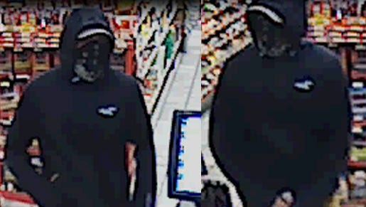 Police say the man in this video still robbed a West Asheville convenience store Saturday.