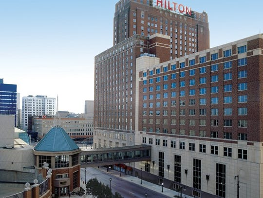 Downtown's Milwaukee Hilton City Center will be among the hotels that likely will be completely booked during the Democratic National Convention in July 2020.