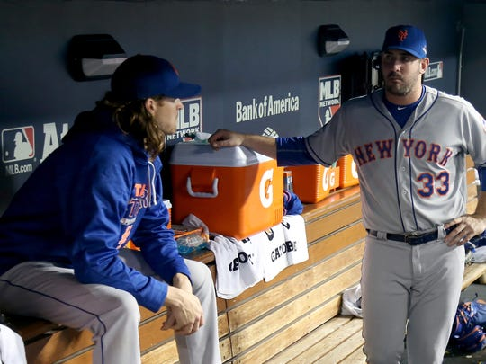 Matt Harvey (33) and Jacob deGrom will start Games 1 and 2 for the Mets.