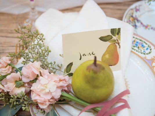 Fresh and Fancy Farms bridal shower: the perfect pear