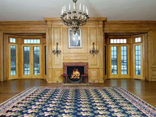 French doors in most of the public rooms open to the