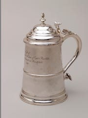 This tankard from Winterthur's collection was made by Paul Revere Jr. about 1768 in Boston.