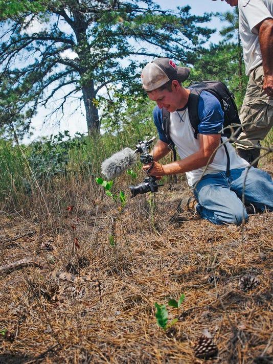 JFlesher filming pine snake