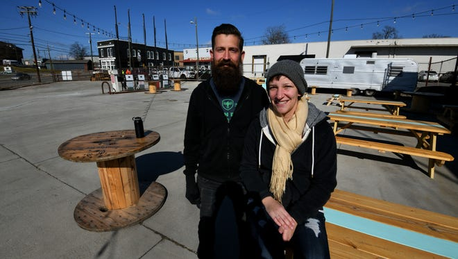 Scott and Alden Larrick are co-owners of the new Central Filling Station on North Central Street. Central Filling Station is a food truck park opening on Thursday which will feature a daily rotation of food trucks from Thursday-Sundays. They will also have an on-site bar inside a shipping container.
