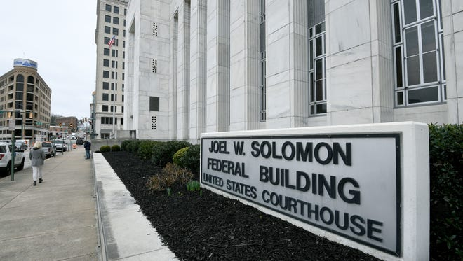 The Joel W. Solomon Federal Building and United States Courthouse in Chattanooga Monday, Feb. 13, 2018 where four former Pilot employees are on trial for conspiracy to commit wire and mail fraud before U.S. District Judge Curtis Collier.
