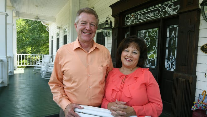 Whitestone Country Inn's new owners Lee and Denise Boggs on the front porch Friday, July 6, 2018. The Boggs are from North Carolina and are expanding their Living Waters Ministry at Whitestone.