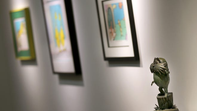 """""""Under the Hat! The Many Worlds of Dr. Seuss,"""" on display at the Trout Museum of Art in Appleton, will be used to help spark social interaction for people suffering from dementia."""