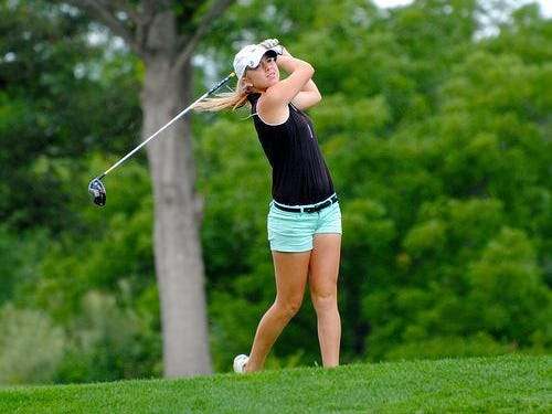 Milford High School graduate Megan Creager, shown in a 2014 photo, did well in the Women's Met tournament.