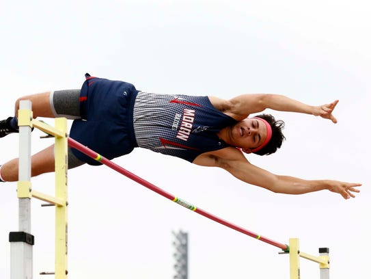 Morgan's Cade Mollahan took sixth in the pole vault during the Division II state track and field meet on Friday at Jesse Owens Memorial Stadium in Columbus.