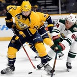 Predators forward Kevin Fiala has one goal in four games since being recalled from the American Hockey League last week.